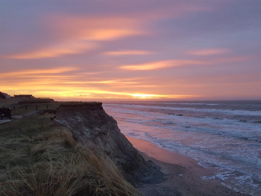 Altid flotte solnedgange fra nærmeste strand